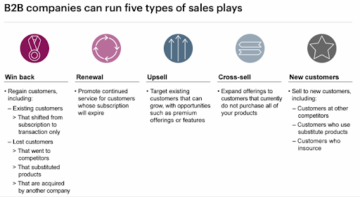 5 key sales plays that are drivers of successful b2b revenue management programmes
